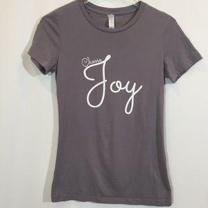 Tops - Choose Joy Women's Gray Short Sleeve tshirt Sz.M